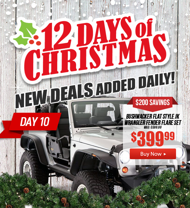 Daily Christmas Deals on Jeep Parts & Accessories  12 Days of Christmas