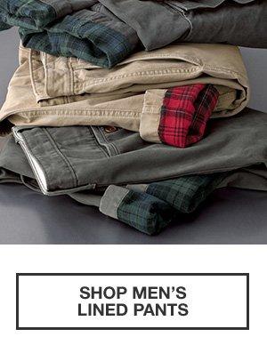 WORLD'S BEST FLANNEL | SHOP MEN'S LINED PANTS