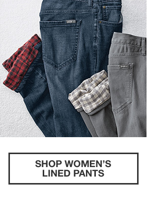 WORLD'S BEST FLANNEL | SHOP WOMEN'S LINED PANTS