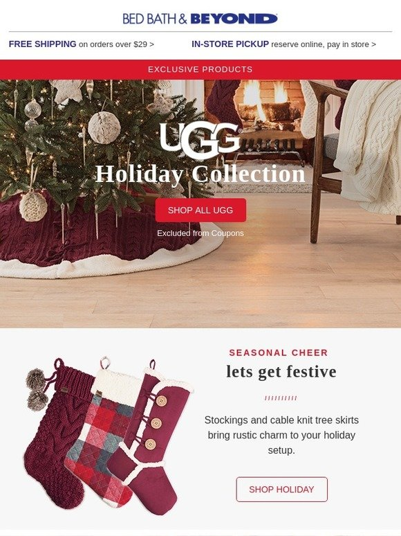 Bed Bath And Beyond Christmas Stockings.Bed Bath And Beyond New Ugg Gifts For Pets Friends
