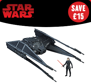 Star Wars The Last Jedi Force Link Kylo Ren's TIE Silencer & Figure
