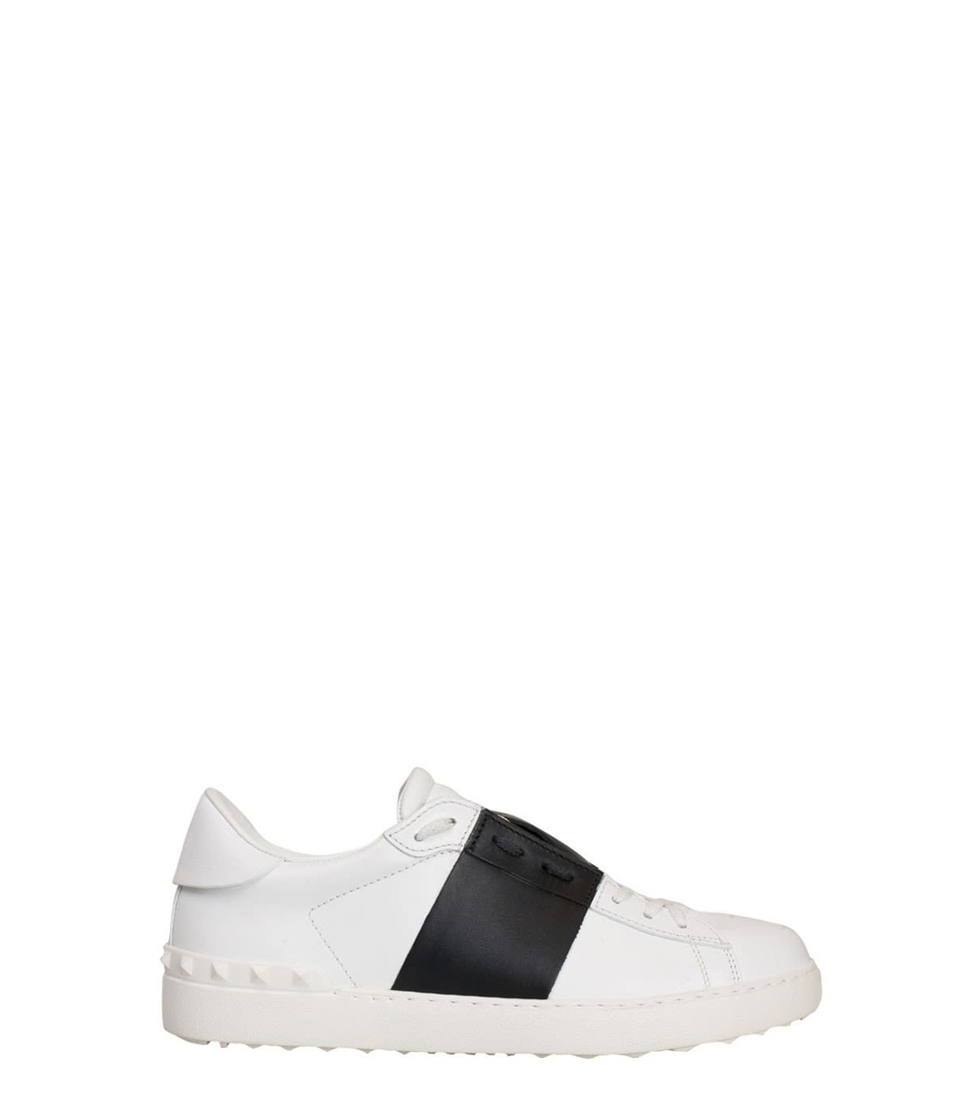 Valentino Garavani White Leather Open Sneakers