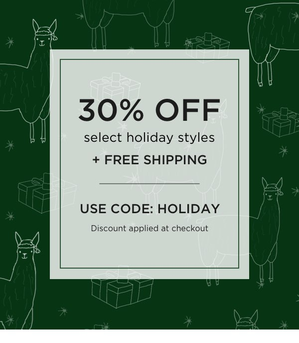 Use Code: HOLIDAY