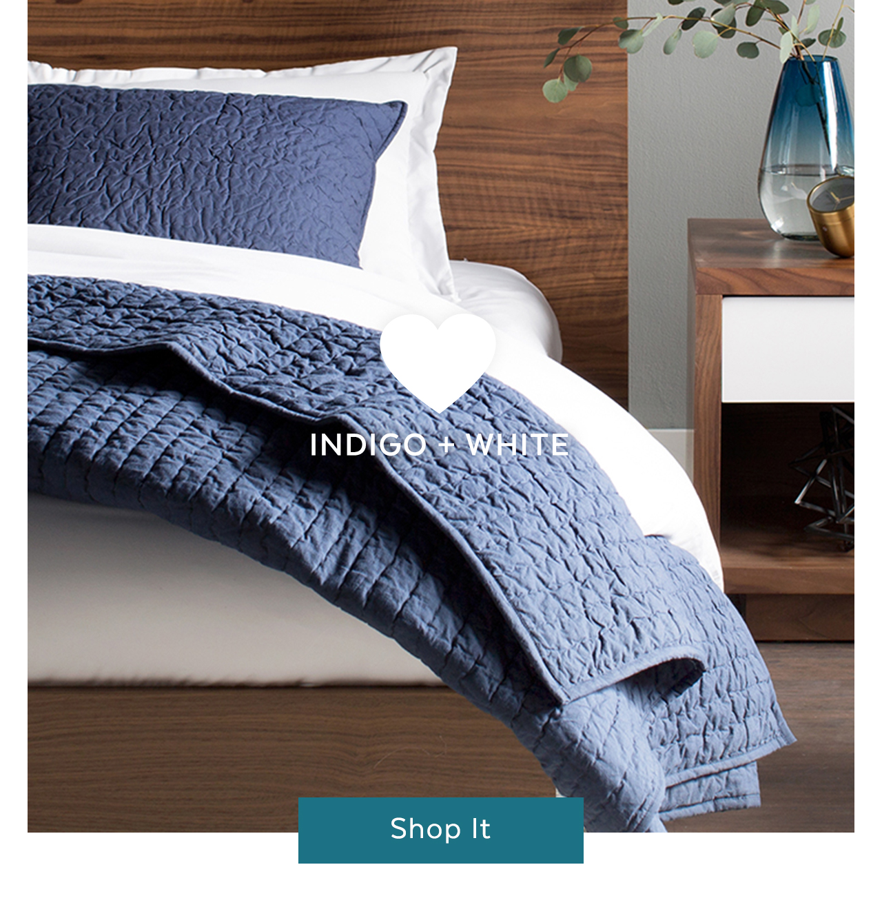 indigo and white