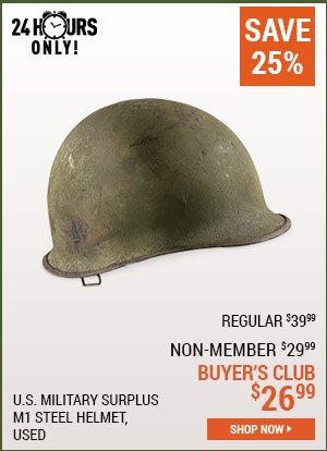 U.S. Military Surplus M1 Steel Helmet, Used