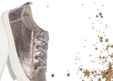 Pewter Crackle Foil Youth Lenny Sneakers