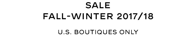 SALE FALL-WINTER 2017/18