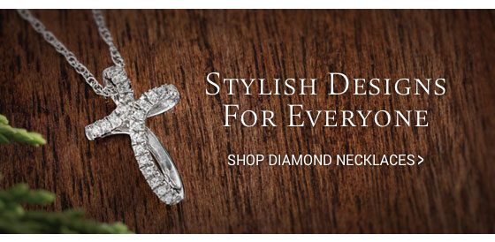 Shop diamond necklaces.