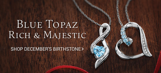 Shop blue topaz jewelry.