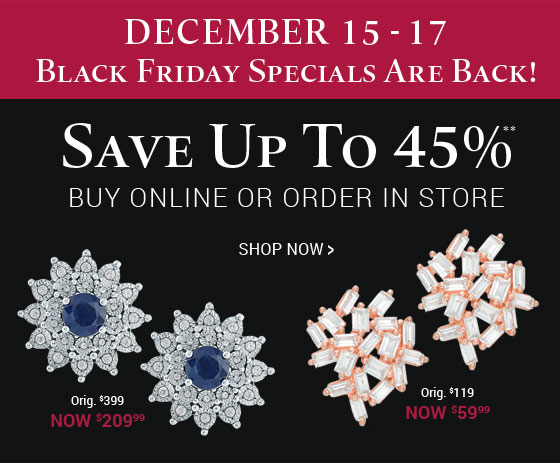Black Friday Specials are back! Save up to 45%** for a limited time.