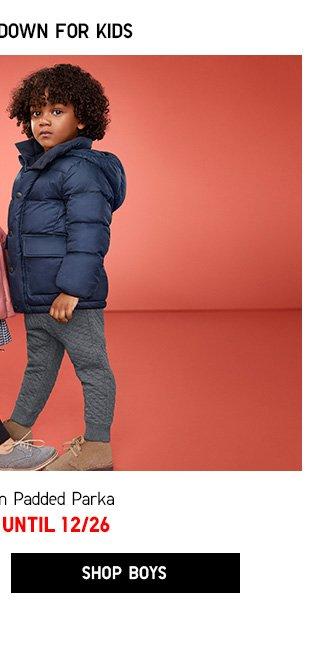 Kids Light Warm Padded Parka -- NOW $29.90 - Shop Boys