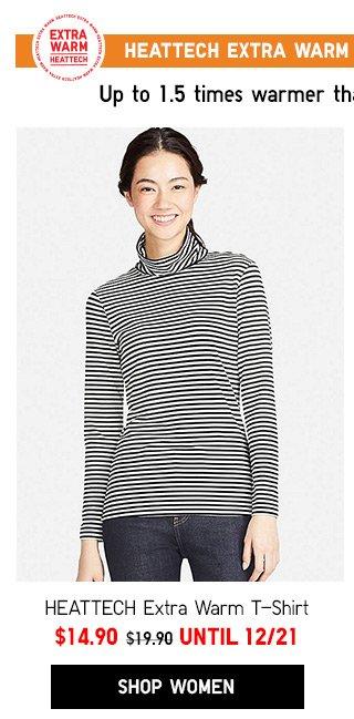 HEATTECH Extra Warm T-Shirt -- NOW $14.90 - Shop Women