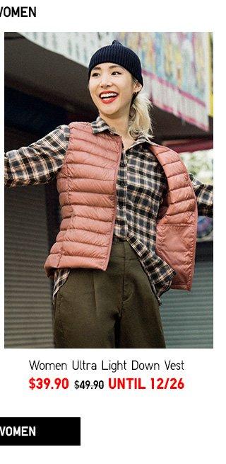 Ultra Light Down Vest -- NOW $39.90 - Shop Women