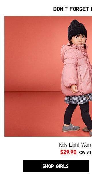 Kids Light Warm Padded Parka -- NOW $29.90 - Shop Girls
