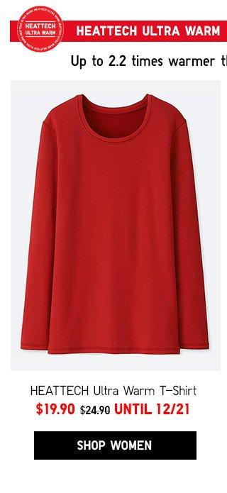 HEATTECH Ultra Warm T-Shirt  NOW $19.90 - Shop Women