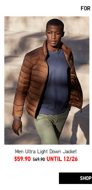Ultra Light Down Jacket -- NOW $59.90 - Shop Men
