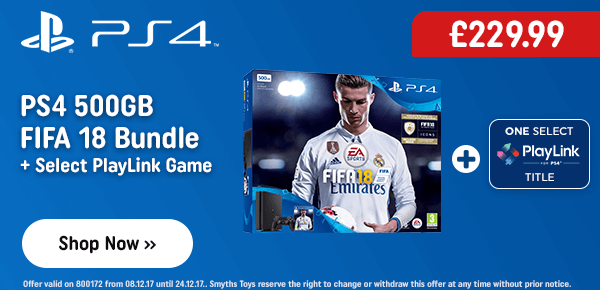 PS4 500GB FIFA 18 Bundle & PlayLink Game