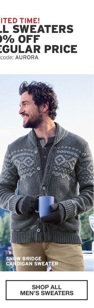 ALL SWEATERS 60% OFF REGULAR PRICE | SHOP MEN'S SWEATERS
