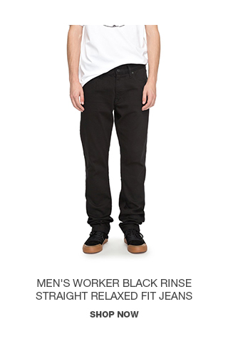 Product 3 - Men's Worker Black Rinse Straight Relaxed Fit Jeans