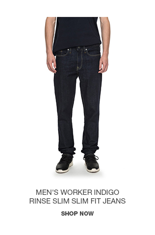 Product 1 - Men's Worker Indigo Rinse Slim Slim Fit Jeans