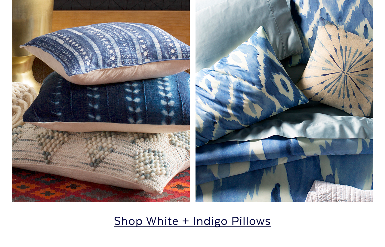 White + Indigo Pillows