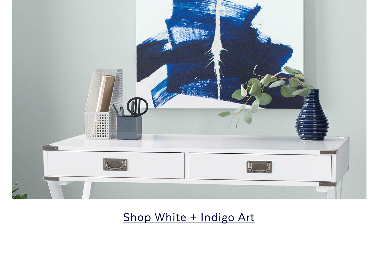 White + Indigo Art
