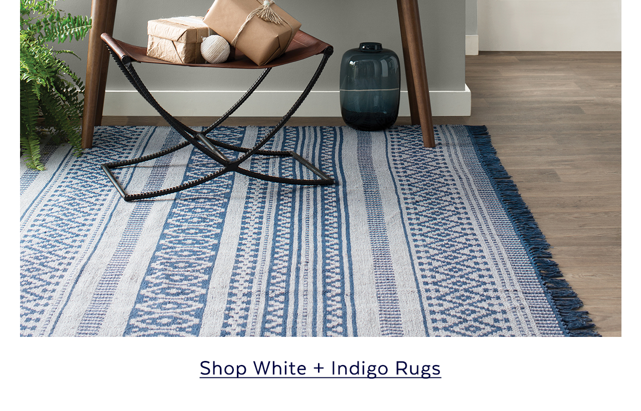 White + Indigo Rugs