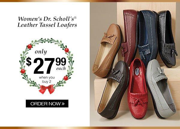 Women's Dr. Scholl's Leather Tassel Loafers