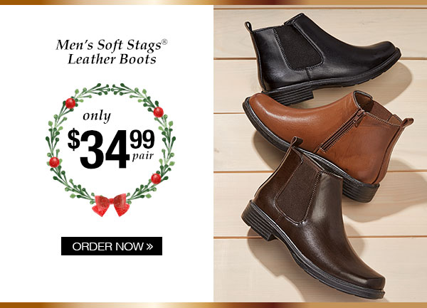 Men's Soft Stags Leather Boots