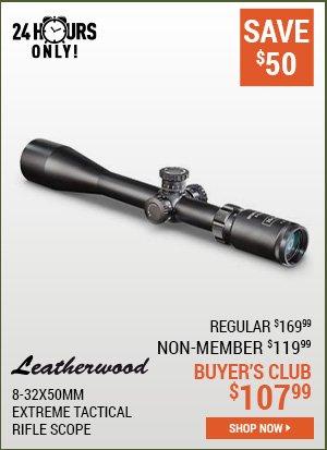 Leatherwood 8-32x50mm Extreme Tactical Rifle Scope