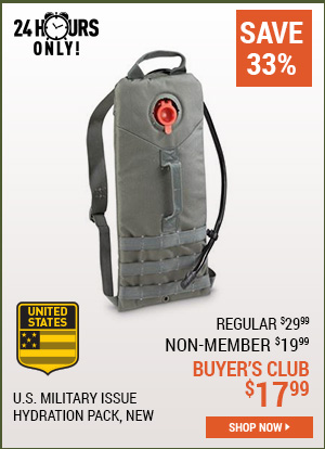 U.S. Military Issue Hydration Pack, New