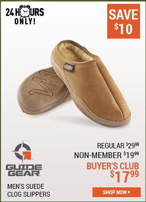 Guide Gear Men's Suede Clog Slippers