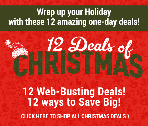 12 Deals of Christmas. Wrap up your Holiday with these 12 amazing one-day deals!