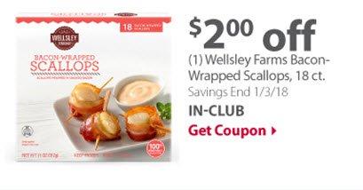 Wellsley Farms Bacon wrapped scallops