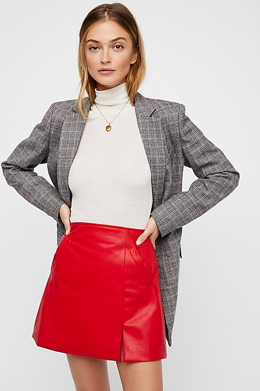 Sasha Vegan Mini Skirt