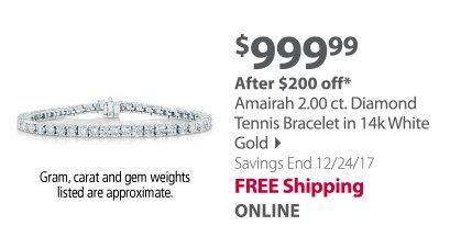 2.00 Tennis Bracelet