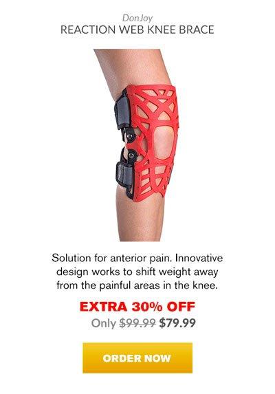 Extra 30% OFF - Donjoy Reaction Web Knee Brace