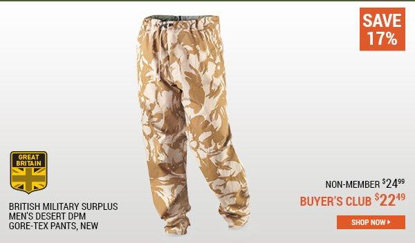 British Military Surplus Men's Desert DPM GORE-TEX Pants, New