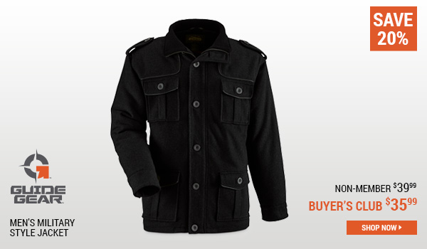 Guide Gear Men's Military Style Jacket