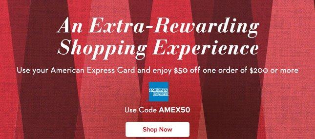 Use AMEX50 & Get $50 Off