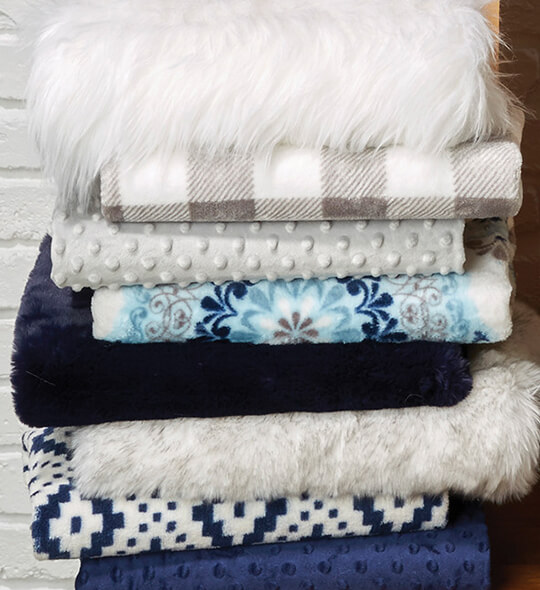 Soft and Comfy, Ultra Fluffy, Sew Lush and Plush Faux Fur Fabrics.