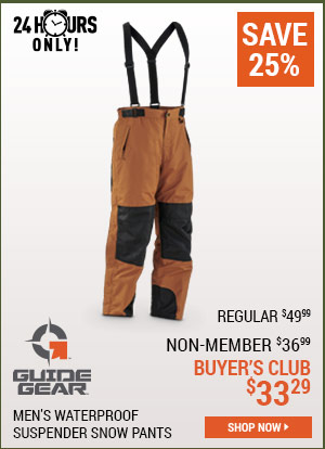 Guide Gear Suspender Zip Snow Pant