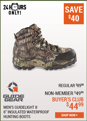 Guide Gear Men's Guidelight II 6 Inch Insulated Waterproof Hunting Boots