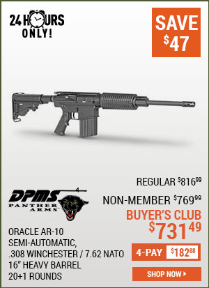 DPMS Oracle AR-10, Semi-Automatic, .308 Winchester / 7.62 NATO, 16 Inch Heavy Barrel, 20+1 Rounds