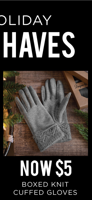 166006 Boxed Knit Cuffed Gloves