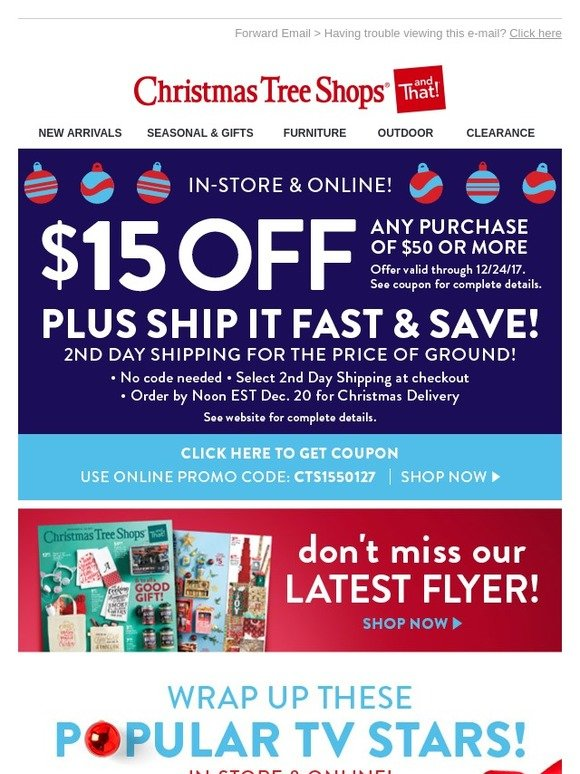 Christmas Tree Shops: Don't Miss Our Latest Flyer (or Your COUPON) + ...