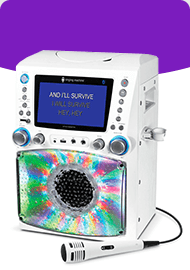 Singing Machine STVG785BT LCD Karaoke Machine White