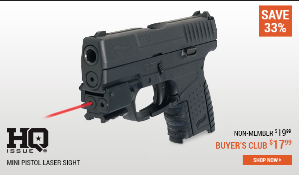 HQ ISSUE Mini Pistol Laser Sight