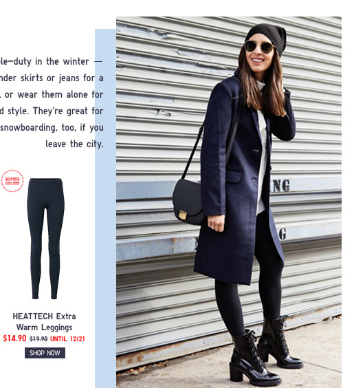 HEATTECH Extra Warm Leggings  NOW $14.90 - Shop HEATTECH Extra Warm