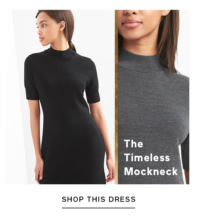The Timeless Mockneck | SHOP THIS DRESS